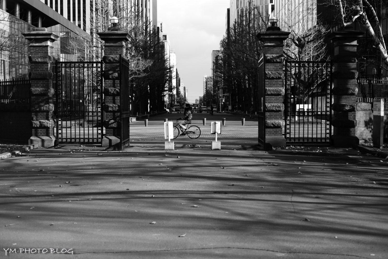 赤レンガ庁舎の入り口付近