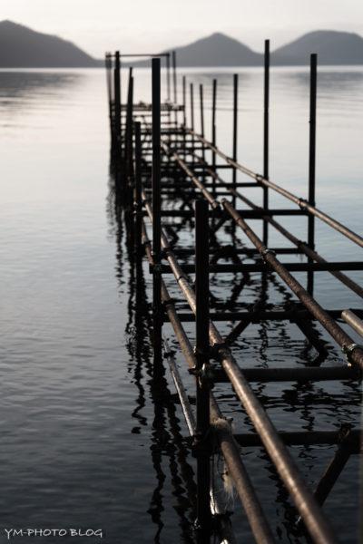 ポロピナイ湖畔・船着場